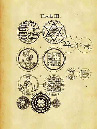 De Amuletis Aeneis Figuris Illustrata.