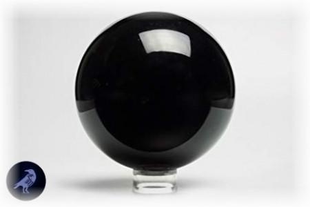 [x] Boule d'Obsidienne 10cm