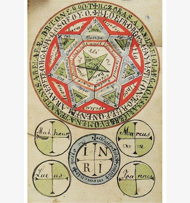 De Virtutibus Pentaculorum~ Au sujet des vertus des Pentacles.