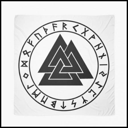 [X] Tenture Cercle Runique + Valknut