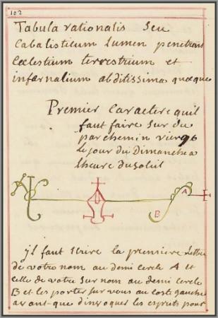 Liber Armadel ou le Grimoire d'Armadel.<br>Arsenal Ms 826 / Ms 2494