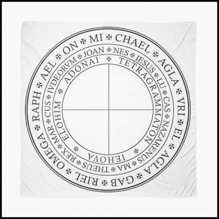 [X] Tenture Cercle Vénus Noire