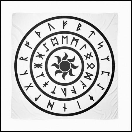 [X] Tenture Cercles Anneaux Runiques